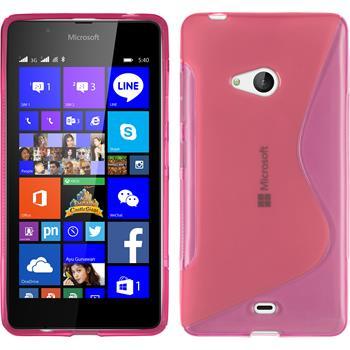 Silikon Hülle Lumia 540 Dual S-Style pink