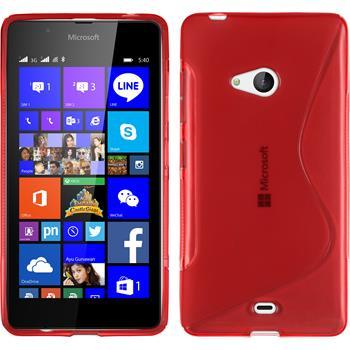 Silikon Hülle Lumia 540 Dual S-Style rot
