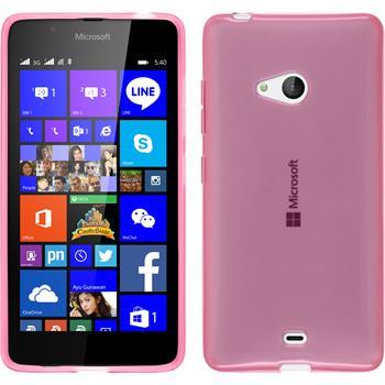 Silikon Hülle Lumia 540 Dual transparent rosa