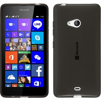Silikonhülle für Microsoft Lumia 540 Dual transparent schwarz