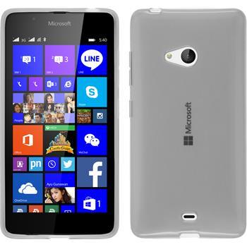 Silikon Hülle Lumia 540 Dual transparent weiß