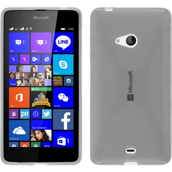 Silikon Hülle Lumia 540 Dual X-Style clear