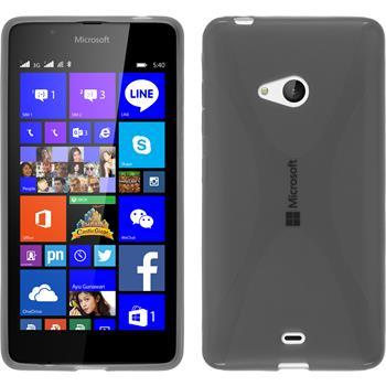 Silikon Hülle Lumia 540 Dual X-Style grau