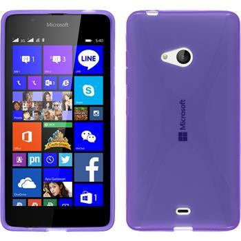 Silikon Hülle Lumia 540 Dual X-Style lila
