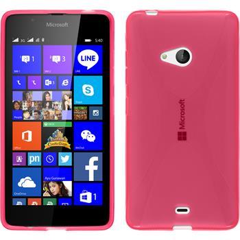 Silikon Hülle Lumia 540 Dual X-Style pink