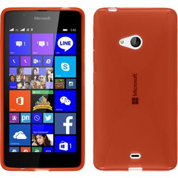 Silikon Hülle Lumia 540 Dual X-Style rot