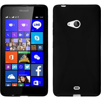 Silikon Hülle Lumia 540 Dual X-Style schwarz