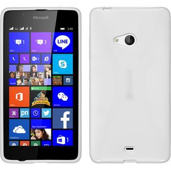 Silikon Hülle Lumia 540 Dual X-Style weiß