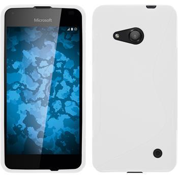 Silikon Hülle Lumia 550 S-Style weiß