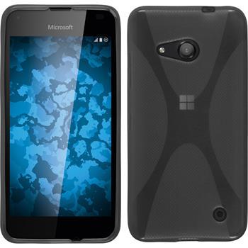 Silikon Hülle Lumia 550 X-Style grau