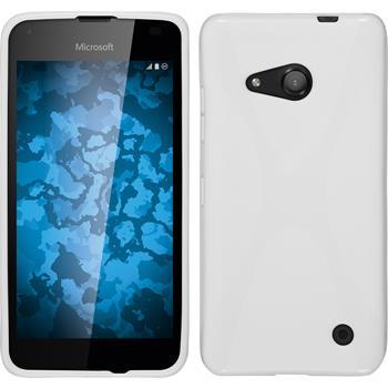 Silikonhülle für Microsoft Lumia 550 X-Style weiß