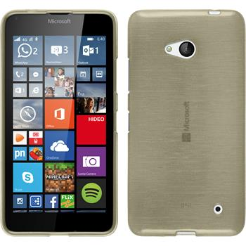 Silikon Hülle Lumia 640 brushed gold