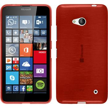 Silicone Case for Microsoft Lumia 640 brushed red