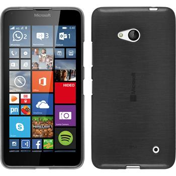 Silicone Case for Microsoft Lumia 640 brushed silver