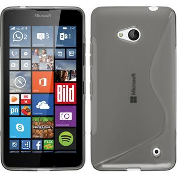 Silikon Hülle Lumia 640 S-Style grau