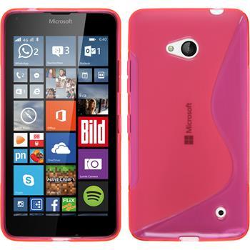 Silikon Hülle Lumia 640 S-Style pink