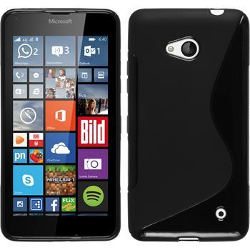 Silikon Hülle Lumia 640 S-Style schwarz