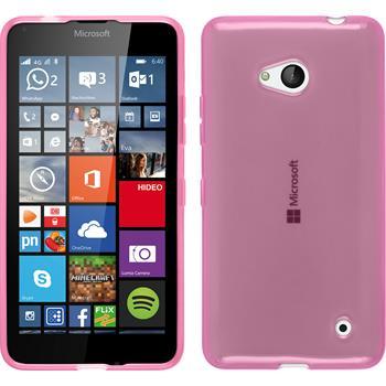 Silikon Hülle Lumia 640 transparent rosa