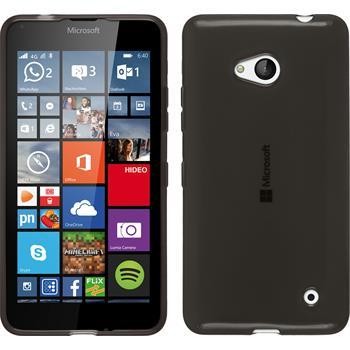 Silikon Hülle Lumia 640 transparent schwarz