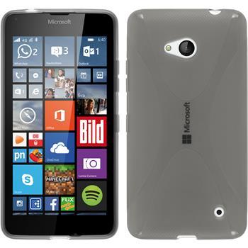 Silikon Hülle Lumia 640 X-Style grau