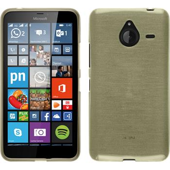 Silicone Case for Microsoft Lumia 640 XL brushed gold