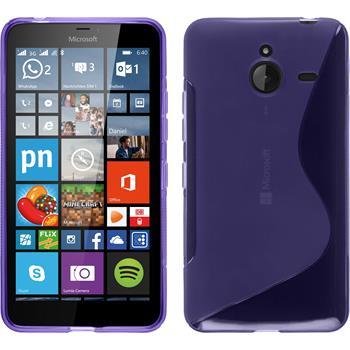 Silikon Hülle Lumia 640 XL S-Style lila