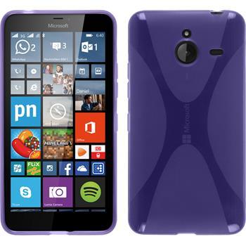 Silikonhülle für Microsoft Lumia 640 XL X-Style lila