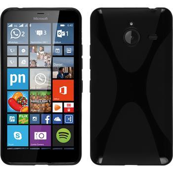 Silikonhülle für Microsoft Lumia 640 XL X-Style schwarz
