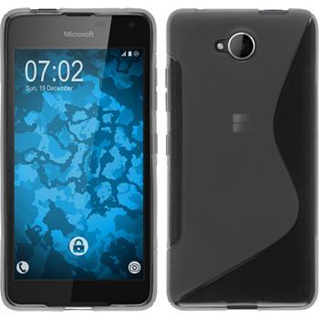Silikon Hülle Lumia 650 S-Style grau