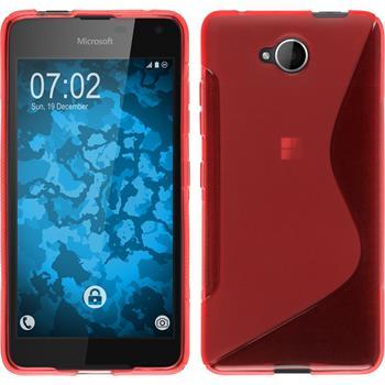 Silikon Hülle Lumia 650 S-Style rot