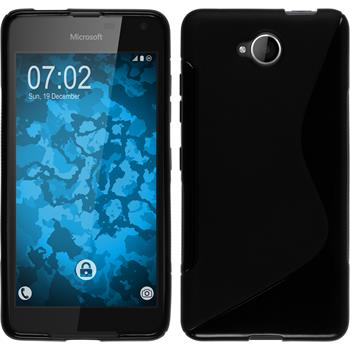 Silikon Hülle Lumia 650 S-Style schwarz