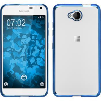 Silikon Hülle Lumia 650 Slim Fit blau