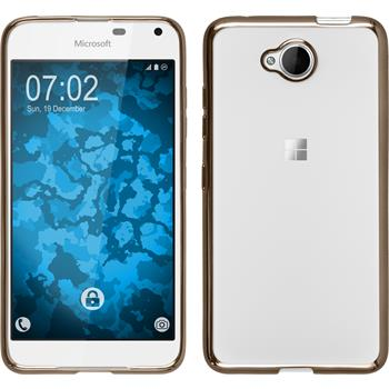 Silikon Hülle Lumia 650 Slim Fit gold Case