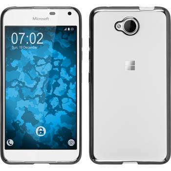 Silikon Hülle Lumia 650 Slim Fit grau Case