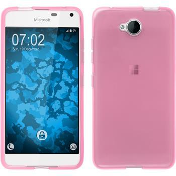 Silikon Hülle Lumia 650 transparent rosa