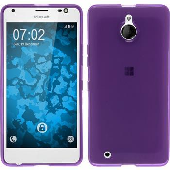Silikon Hülle Lumia 850 transparent lila