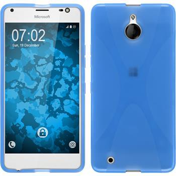Silikon Hülle Lumia 850 X-Style blau