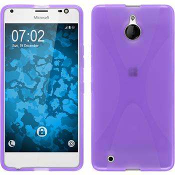 Silikon Hülle Lumia 850 X-Style lila