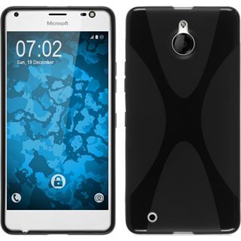 Silikon Hülle Lumia 850 X-Style schwarz