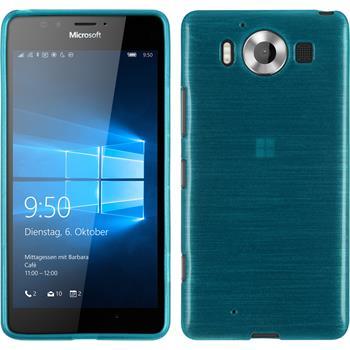 Silikonhülle für Microsoft Lumia 950 brushed blau