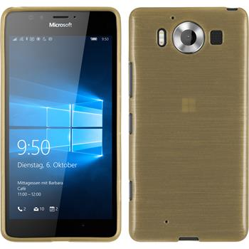 Silikon Hülle Lumia 950 brushed gold