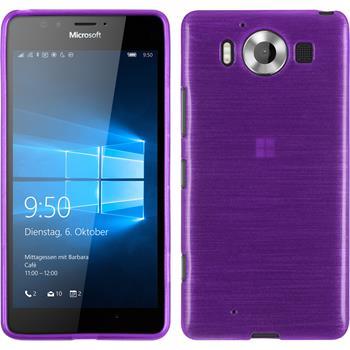 Silikon Hülle Lumia 950 brushed lila