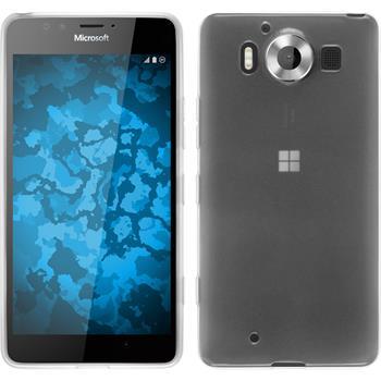 Silikon Hülle Lumia 950 transparent weiß