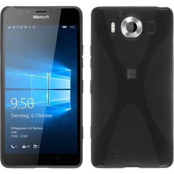 Silikon Hülle Lumia 950 X-Style grau