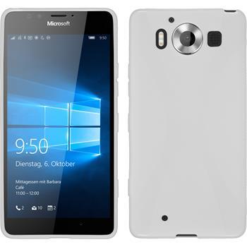 Silikon Hülle Lumia 950 X-Style weiß
