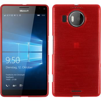 Silikon Hülle Lumia 950 XL brushed rot