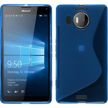 Silikon Hülle Lumia 950 XL S-Style blau