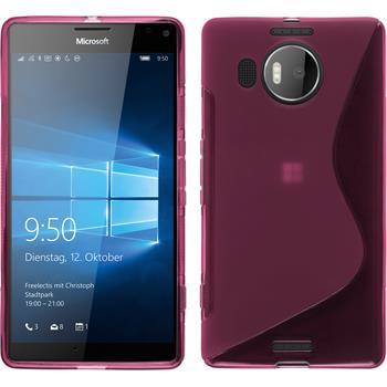 Silikonhülle für Microsoft Lumia 950 XL S-Style pink