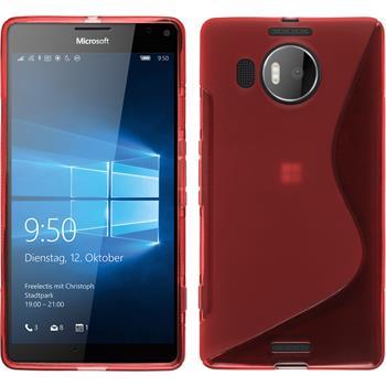 Silikon Hülle Lumia 950 XL S-Style rot