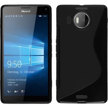 Silikon Hülle Lumia 950 XL S-Style schwarz